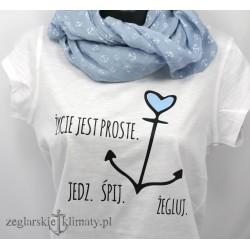 Koszulka damska Życie jest proste