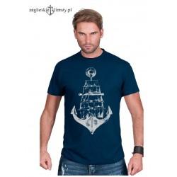 Koszulka męska KOTWICA - ŻAGLOWIEC
