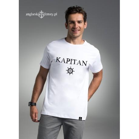 Koszulka męska biała KAPITAN