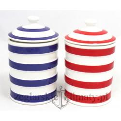 Ceramiczny pojemnik w paski