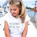 Koszulka damska Życie jest proste. Jedz. Śpij. Żegluj.