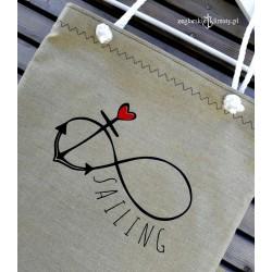 Torba lniana Love SAILING