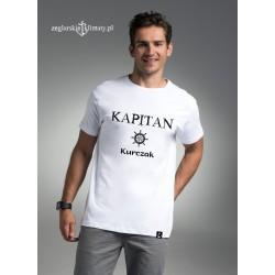 Koszulka męska biała KAPITAN z imieniem :-)