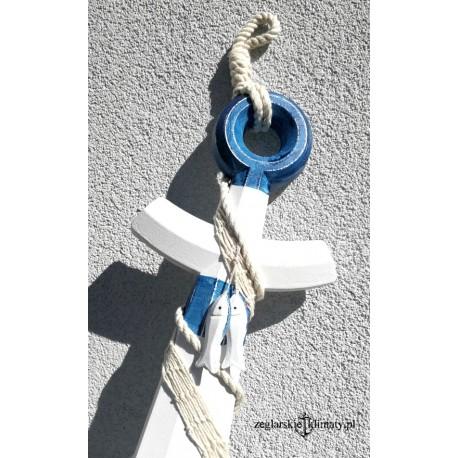 eeae97da228ff8 Duża KOTWICA z siecią biało -niebieska