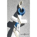 Duża KOTWICA z siecią biało -niebieska