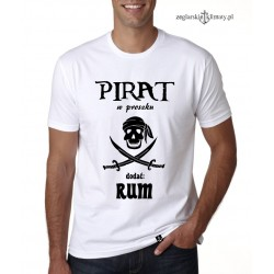Koszulka męska PIRAT w proszku :-)