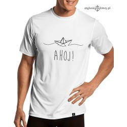 Koszulka męska AHOJ! (boat)
