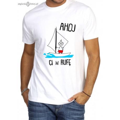 Koszulka męska AHOJ Ci w....