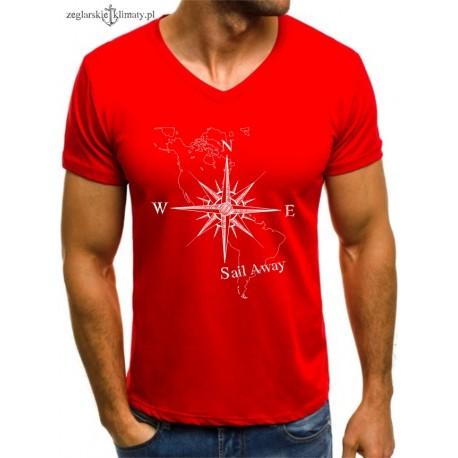 Koszulka męska czerwona SAIL AWAY