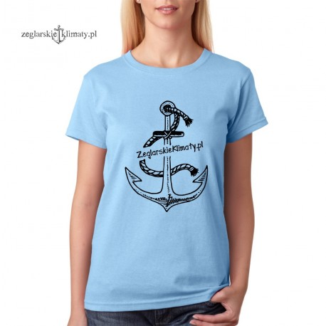 Koszulka damska błękitna Żeglarskie Klimaty 2018