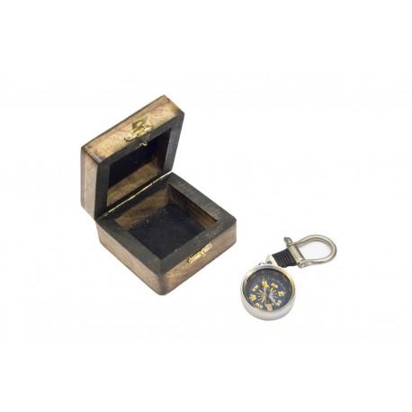 Brelok - KOMPAS na szekli w pudełku