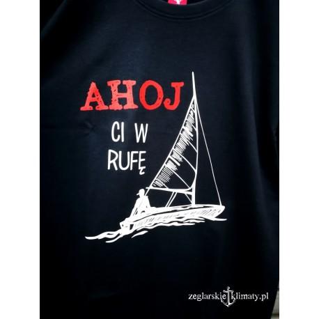 Koszulka męska premium AHOJ CI W RUFĘ!