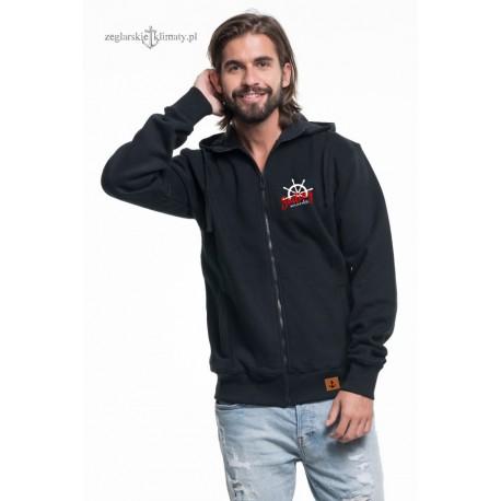 Ciepła bluza męska rozpinana (czarna)