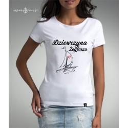 Koszulka premium Dziewczyna Żeglarza