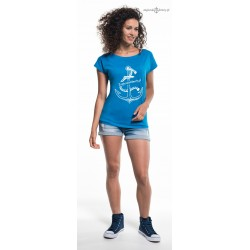 Koszulka damska Żeglarskie Klimaty niebieska