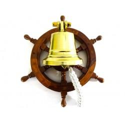 Dzwon w palisandrowym kole sterowym