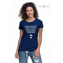 Koszulka damska granatowa Zostań Piratem