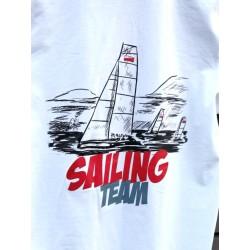 Polo męskie białe Sailing Team