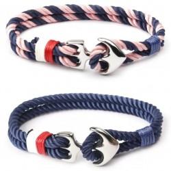 Bransoletka sznur bloczek-kotwica (2 kolory)