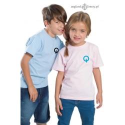 Koszulka dziecięca różowa OPTIMIST