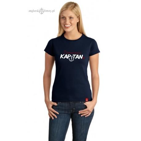 Koszulka damska premium strech Dziewczyna KAPITANa