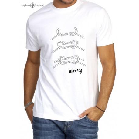 Koszulka męska premium Węzły - prosty :-)