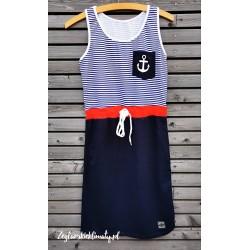 Sukienka plażowa z kotwicą
