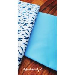 Materiał bawełna błękit