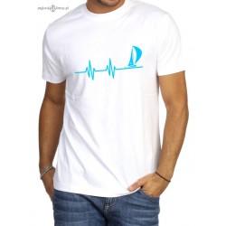 Koszulka uniseks premium plus EKG w błękicie :-)