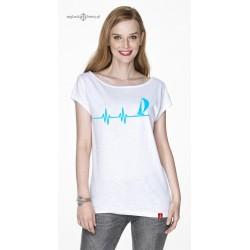 Koszulka damska EKG w optymistycznym błękicie :-)