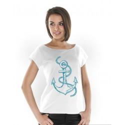 Koszulka damska biała Żeglarskie Klimaty -KOTWICA