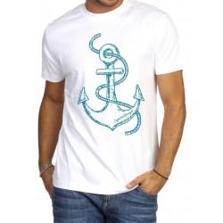Koszulka męska biała Żeglarskie Klimaty - KOTWICA