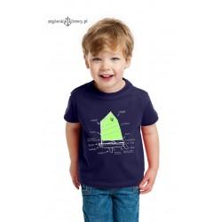 Koszulka dziecięca premium OPTIMIST 5-12 lat (granatowa)