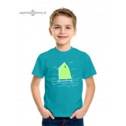 Koszulka dziecięca premium OPTIMIST 5-12 lat (turkus)