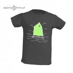 Koszulka dziecięca premium OPTIMIST 5-12 lat (grafitowa)