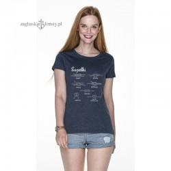 Koszulka damska granatowy melanż z węzłami- Supełki 3D :-)
