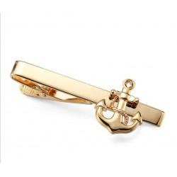 Spinka do krawata - złota kotwiczka