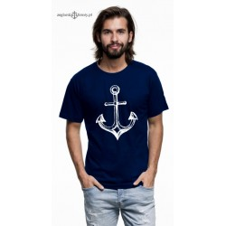 Koszulka męska premium strech KOTWICA szkic