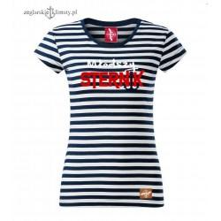 Koszulka damska w paski Młodszy STERNIK