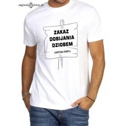 Koszulka męska premium ZAKAZ DOBIJANIA DZIOBEM :-)