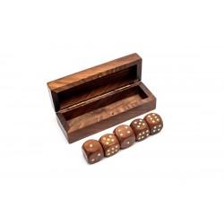 Kości do gry w pudełku (palisander)