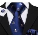Komplet PIRACKI - krawat + spinki do mankietów + poszetka :-)