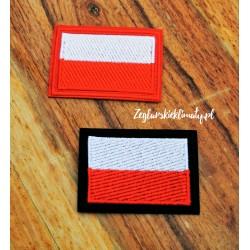 Aplikacja - haft flaga Polski (termoprzylepna)