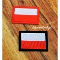 Aplikacja - haft flaga Polski (termoprzylepna) 5,5cm